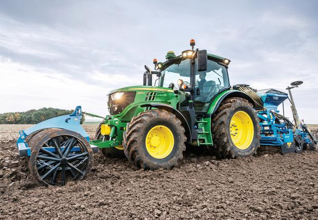 John Deere 6R Series tractor range with CommandPRO option.