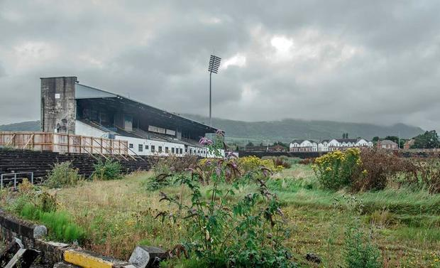 Pictures of the derelict Casement Park