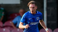 Curtis has scored three times in his four starts for Pompey and made three goals too in their 100 per cent start to the campaign under Kenny Jackett. Photo By Harry Murphy/Sportsfile via Getty Images