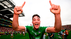 Kyle Hayes, Limerick's man of the match in last Sunday's final. Photo by Stephen McCarthy/Sportsfile
