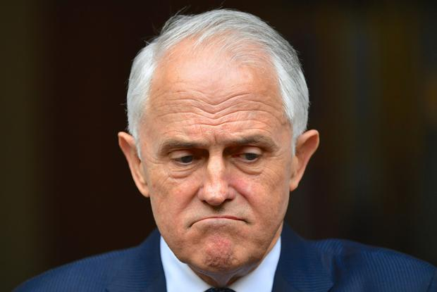 Australian Prime Minister Malcolm Turnbull reacts during a media conference at Parliament House in Canberra, Australia Photo: AAP/Sam Mooy/via REUTERS