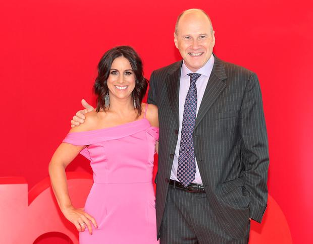 Lucy Kennedy and Ivan Yates at the Virgin Media Television New Season Press briefing in the Aviva Stadium as the group unveiled its new programming for 2018. Pictures Brian McEvoy
