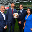 Graeme Souness, Niall Quinn and Kevin Kilbane are part of the Virgin Media Sport presenting team alongside Niamh Kinsella