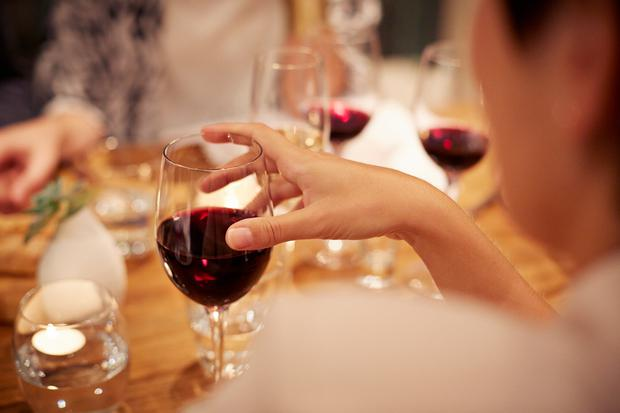 Many women may believe that 'just one glass of wine' is not harmful, without realising that there are as many as three 'standard drinks' in a large glass. Stock Image: Getty