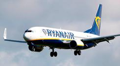 Ryanair flights have been grounded during the summer due to Irish pilots' industrial action. Photo: PA