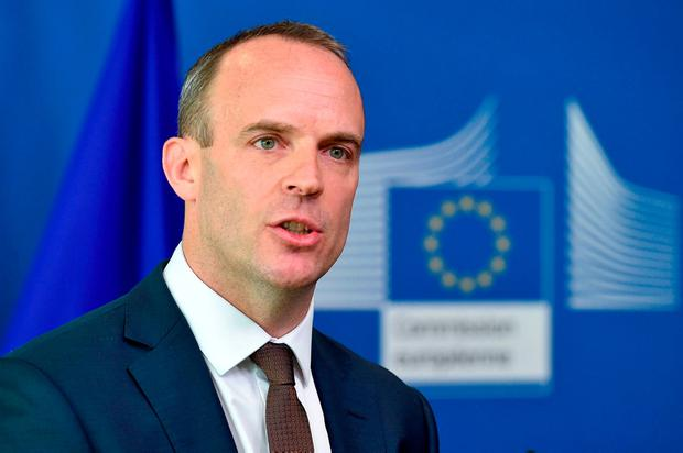 Dominic Raab wants a Border deal with Irish Government. Photo: AFP/Getty Images