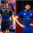 Ciaran Frawley (left), Johnny Sexton (centre) and Ross Byrne (right) are all likely to be unavailable for Leinster's opener league fixture.