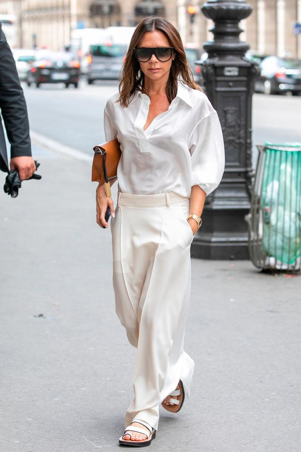 Victoria Beckham in Paris earlier this year