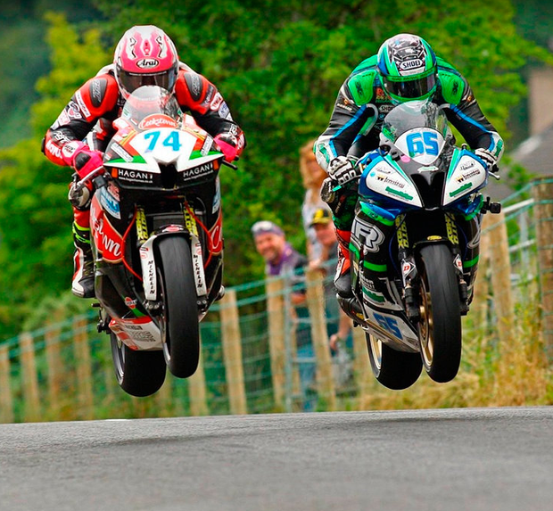 GREAT EXPECTATIONS: Davy Todd (left) leads with Michael Sweeney at Armoy