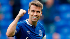 At Everton, Coleman is a revered figure that is well on the way to club legend status if he spends the rest of his playing days there. Photo: Reuters/Ed Sykes