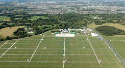 LPreparations at the Phoenix Park ahead of tomorrow's Mass. Photo: Irish Air Corps