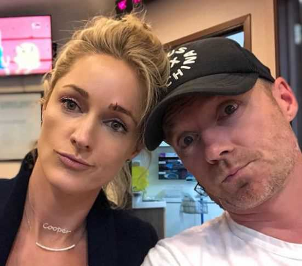 storm keating sporting stitches on face after toddler son cooper