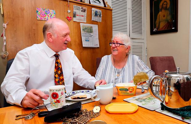 Lord Mayor Niall Ring having tea with his mum Pauline. Photo: David Conachy