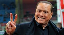 Speculation is rife in Italy that Silvio Berlusconi still has links to AC Milan. Photo: Getty Images