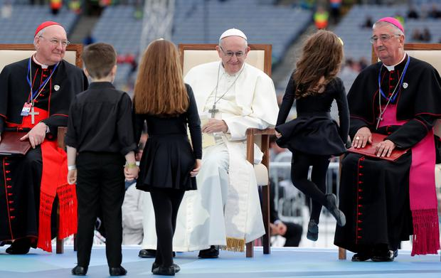 Pope Francis attends the Festival of Families at Croke Park during his visit to Dublin, Ireland, Ireland, August 25, 2018. REUTERS/Stefano Rellandini