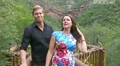 Julia Morris and Dr Chris Brown presenting I'm A Celebrity Get Me Out of Here Australia