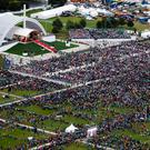 An aerial view of the pilgrims as the Pope celebrated Mass in the Phoenix Park. Photo: Maxwells