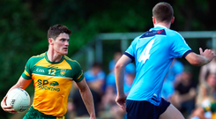 As Dublin prepare for their All-Ireland decider, Diarmuid Connolly was playing in a final of his own last night. The St Vincent's man steered Donegal Boston to victory in the Boston SFC final against Wolfe Tones. Photo: Sportsfile