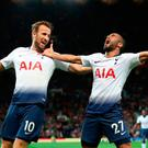 Tottenham Hotspur's Lucas Moura celebrates scoring his side's third goal