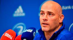 Leinster backs coach Felipe Contepomi during a press conference at Leinster Rugby Headquarters in Dublin. Photo: Ramsey Cardy/Sportsfile