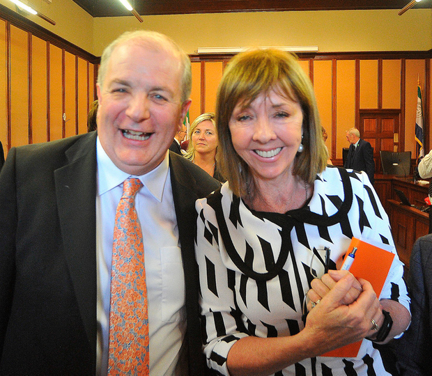 Gavin Duffy and Joan Freeman at the Meath County Offices. Photo: Seamus Farrelly