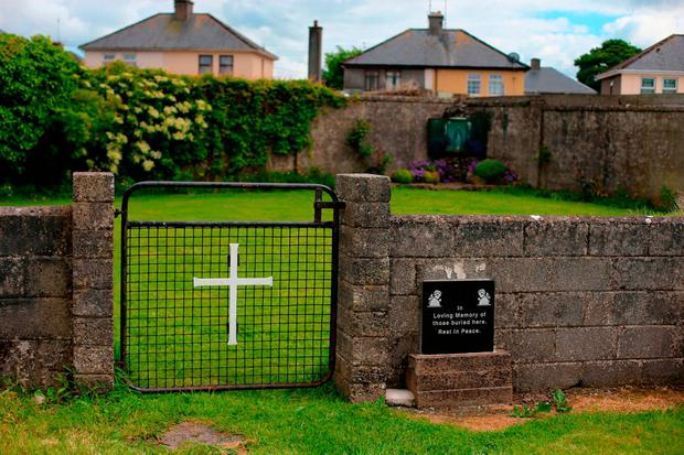 The site of the mass grave at the Tuam mother and baby home. Picture: PA
