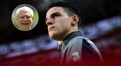 David Gold (inset) wanted to see Declan Rice in an England shirt last May
