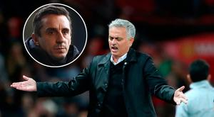 Gary Neville (inset) admits he does not know if Jose Mourinho can turn around Manchester United's fortunes