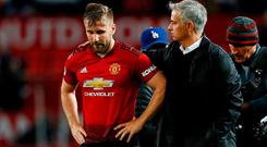 Manchester United's Luke Shaw has had a challenging relationship with manager Jose Mourinho