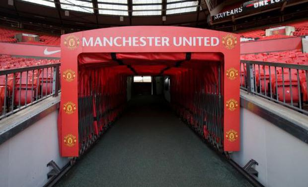 The new tunnel entrance at Old Trafford