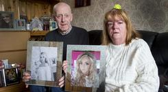 Every day is 'hell' for Danielle Carroll's parents Frank and Margaret after she took her own life. Photo: Colin O'Riordan