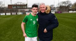 Calum Kavanagh with his father and former Republic of Ireland international Graham Kavanagh