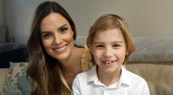 Alison Canavan and her son James.