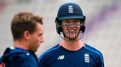 England's Keaton Jennings looks on during England Nets ahead of the 4th Specsavers Test Match at The Ageas Bowl in Southampton, England. Photo: Stu Forster/Getty Images