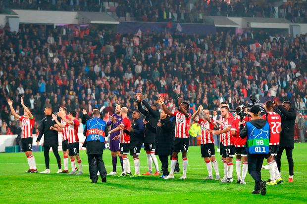 PSV Eindhoven will be in Pot 3 with Liverpool. Photo: Dean Mouhtaropoulos/Getty Images