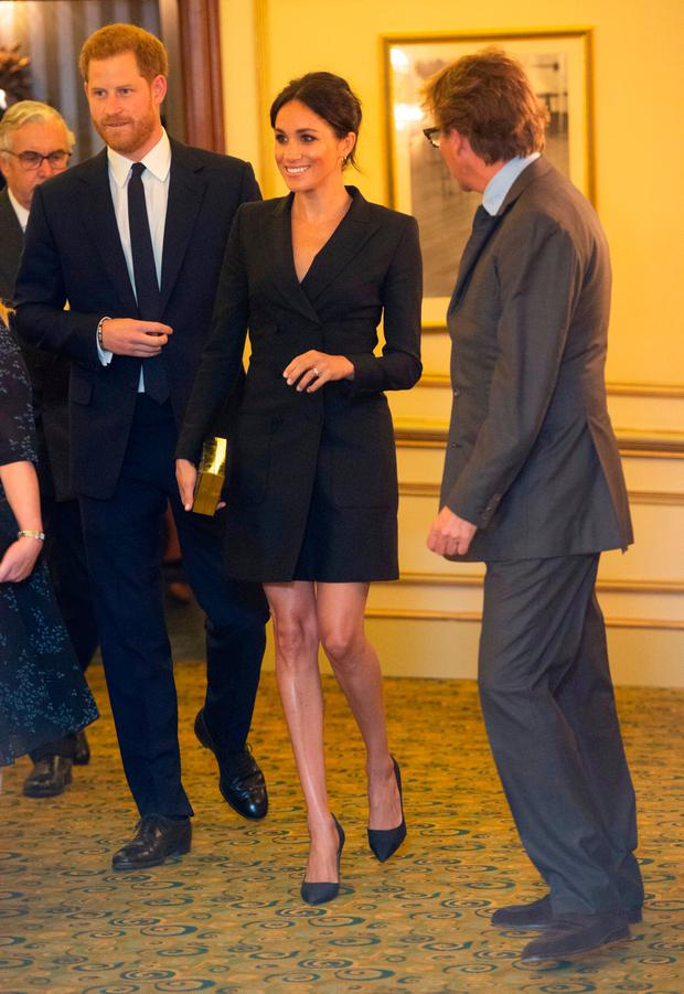 Prince Harry, Duke of Sussex and Meghan, Duchess of Sussex attend a gala performance of