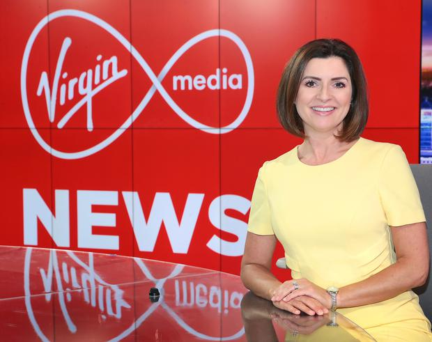 Virgin Media Television News anchor Colette Fitzpatrick Pic Brian McEvoy