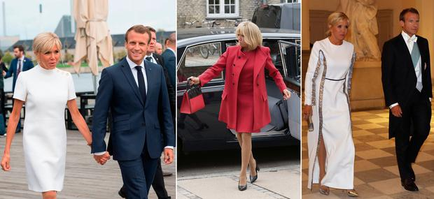 Brigitte Macron is touring European with her husband, French president Emmanuel Macron