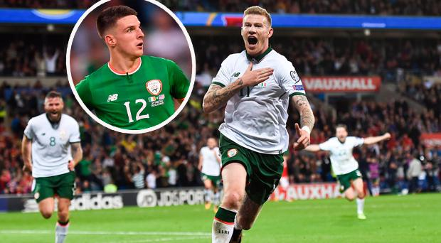 James McClean and (inset) Declan Rice