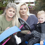 Best friends: Edel (centre) with her daughter Chelsea and grandson Mason. Photo: Liam Burke Press 22