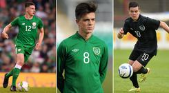 Declan Rice, Jack Grealish and Liam Kelly