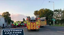 Emergency services attend the scene of a serious collision in Co Wexford (Photo: Independent.ie)