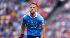 Cooper's a mainstay now with his performances for Dublin seeing him go from being handed a number 33 shirt by Pat Gilroy in 2012 to leading the side out in this year's Leinster final in the absence of Stephen Cluxton. Photo by Ray McManus/Sportsfile