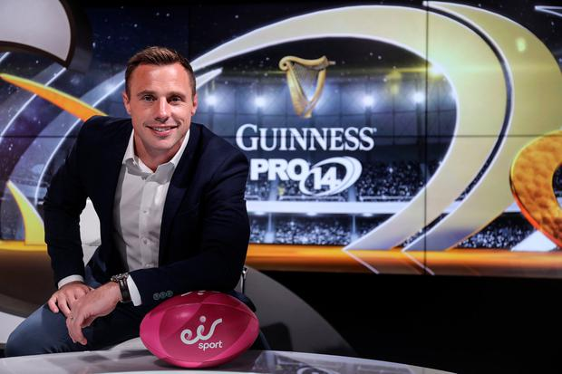 Tommy Bowe will make his debut as presenter of eir sport's Guinness PRO14 coverage tonight when Leinster's clash with Cardiff Blues will be made free to view to all sky satellite customers. Photo credit ©INPHO/Dan Sheridan