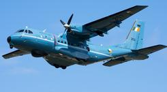 Casa CN235 Maritime Patrol Surveillance aircraft used in the operation