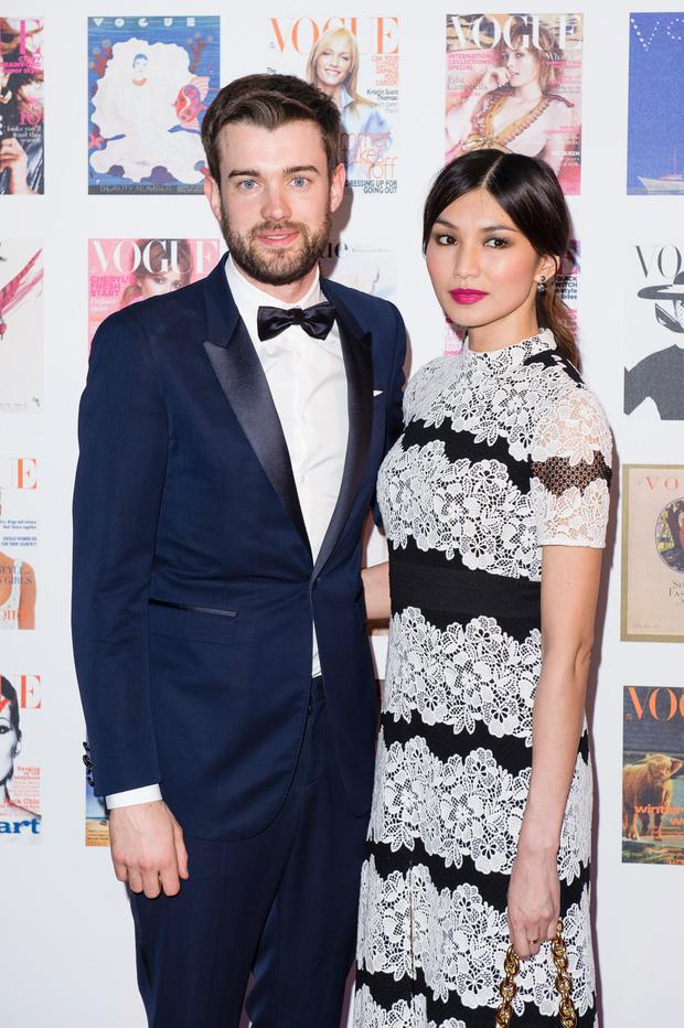 (L-R) Jack Whitehall and Gemma Chan arrive for the Gala to celebrate the Vogue 100 Festival at Kensington Gardens on May 23, 2016 in London, England. (Photo by Jeff Spicer/Getty Images)
