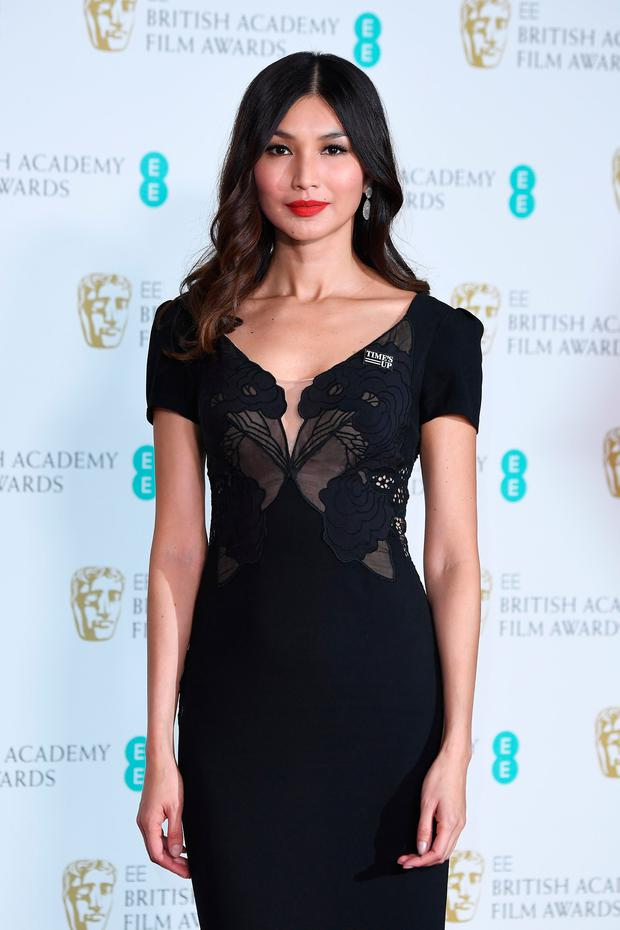 Gemma Chan poses in the press room during the EE British Academy Film Awards (BAFTA) held at Royal Albert Hall on February 18, 2018 in London, England. (Photo by Jeff Spicer/Jeff Spicer/Getty Images)