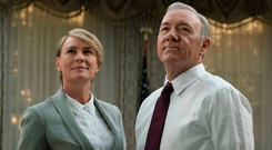 Robin Wright and Kevin Spacey as Claire and Frank Underwood in 'House of Cards', before Spacey was axed.