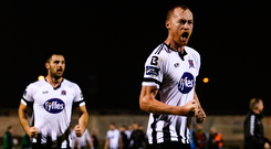 Dundalk's Chris Shields celebrates. Photo: Sportsfile