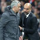 Jose Mourinho (left) and Pep Guardiola (right).